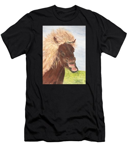 Funny Iceland Horse Men's T-Shirt (Athletic Fit)