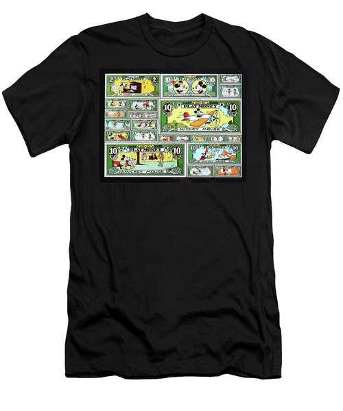 Funny Money Collage Men's T-Shirt (Athletic Fit)