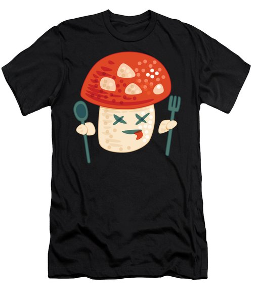 Funny Poisoned Mushroom Character Men's T-Shirt (Athletic Fit)