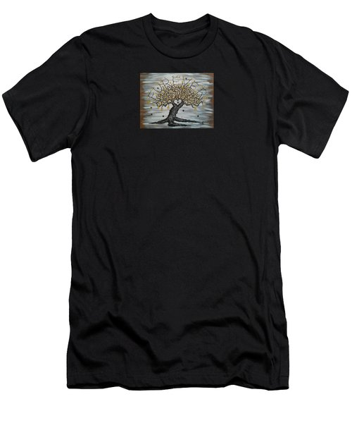 Furever Love Tree W/ Paws Men's T-Shirt (Athletic Fit)