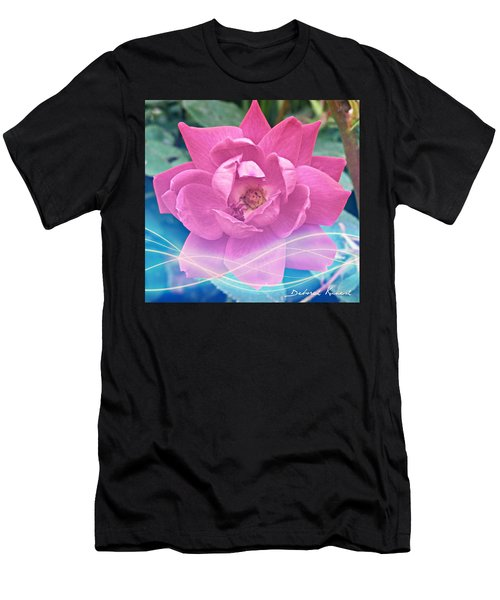 Fuschia Flower Energy Men's T-Shirt (Athletic Fit)