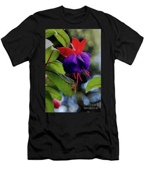 Fuschia Men's T-Shirt (Athletic Fit)