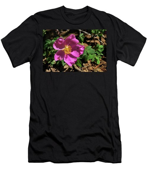 Men's T-Shirt (Athletic Fit) featuring the photograph Fuschsia Mountain Accent by Ron Cline