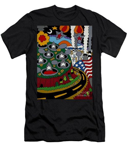 Future Development B Men's T-Shirt (Slim Fit) by Rojax Art