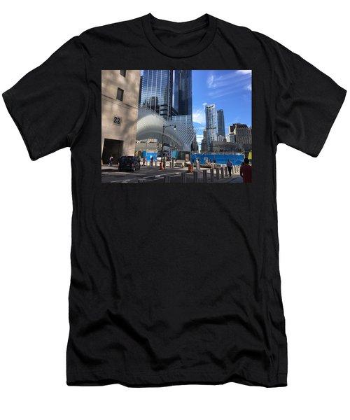 Futuristic City Men's T-Shirt (Athletic Fit)