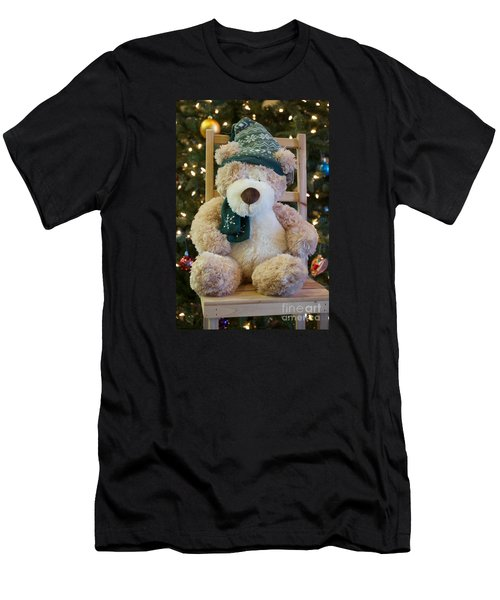 Men's T-Shirt (Slim Fit) featuring the photograph Fuzzy Bear by Vinnie Oakes