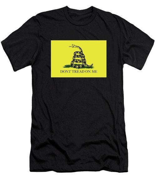 Gadsden Dont Tread On Me Flag Authentic Version Men's T-Shirt (Athletic Fit)