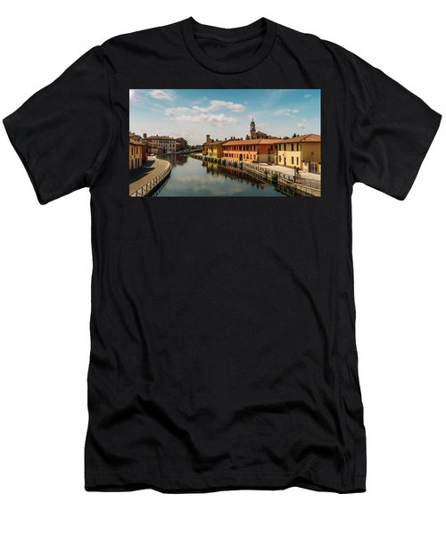 Gaggiano On The Naviglio Grande Canal, Italy Men's T-Shirt (Athletic Fit)