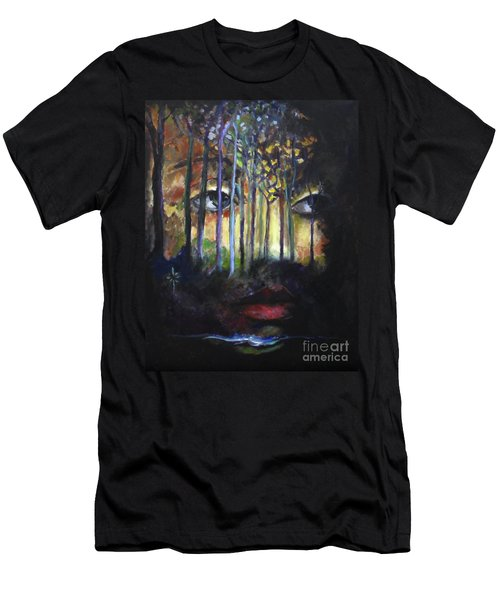 Men's T-Shirt (Slim Fit) featuring the painting Gaia by Jodie Marie Anne Richardson Traugott          aka jm-ART