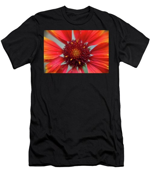 Men's T-Shirt (Athletic Fit) featuring the photograph Gaillardia by Brenda Jacobs
