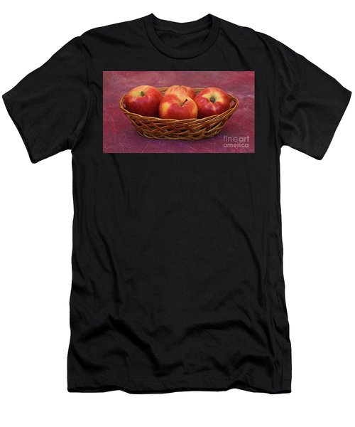 Gala Apple Basket Men's T-Shirt (Slim Fit) by Ray Shrewsberry