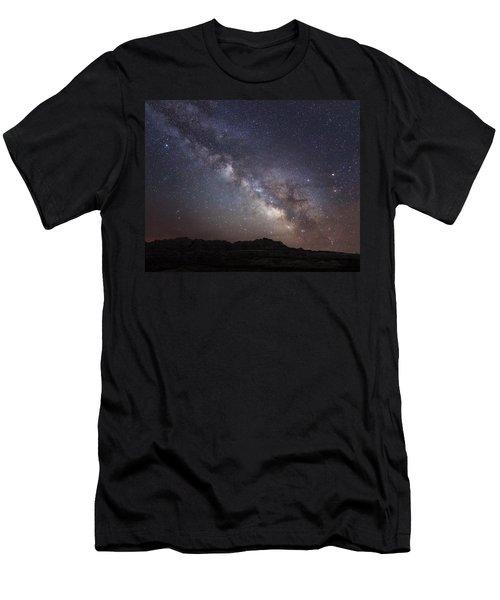 Galactic Light On Badlands National Park Men's T-Shirt (Athletic Fit)