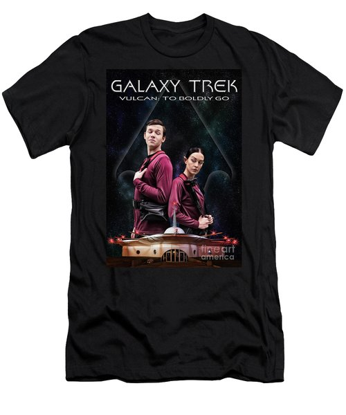 Men's T-Shirt (Athletic Fit) featuring the photograph Galaxy Trek  Vulcan To Boldly Go Poster  Away Team by Brad Allen Fine Art