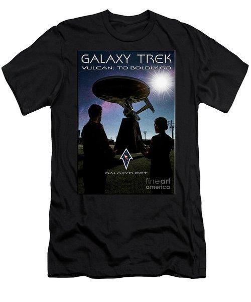 Men's T-Shirt (Athletic Fit) featuring the photograph Galaxy Trek  Vulcan To Boldly Go Poster  Pilot Episode by Brad Allen Fine Art