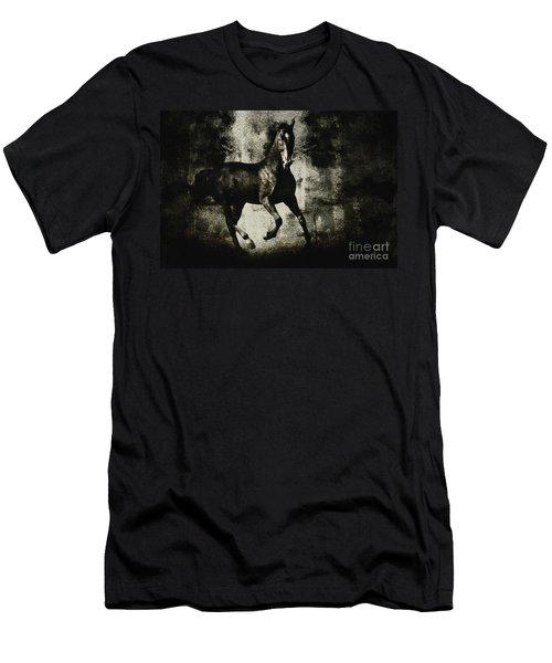 Galloping Horse Artwork Men's T-Shirt (Athletic Fit)