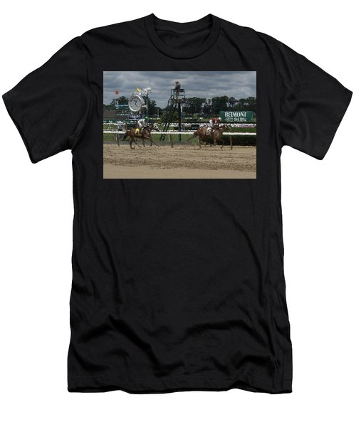Men's T-Shirt (Slim Fit) featuring the digital art Galloping Out Painting by  Newwwman