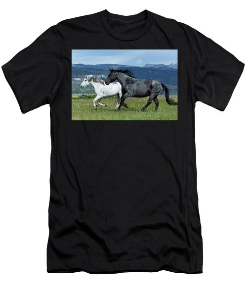 Galloping Through The Scenery In Wyoming Men's T-Shirt (Athletic Fit)