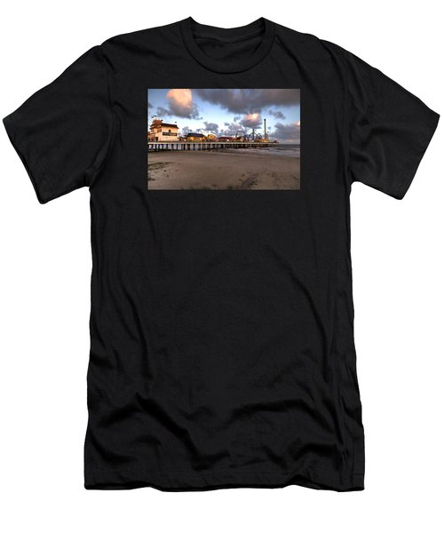 Galveston Island Historic Pleasure Pier Men's T-Shirt (Athletic Fit)