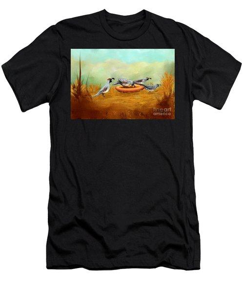 Gambel's Quail On Parade Men's T-Shirt (Athletic Fit)