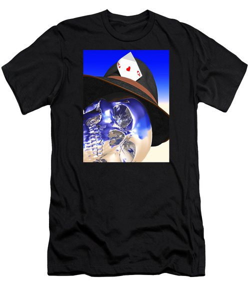 Men's T-Shirt (Slim Fit) featuring the digital art Game Over by Andreas Thust