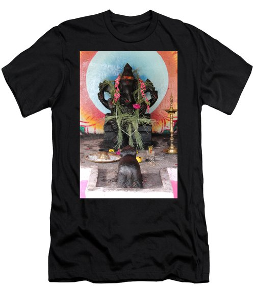 Ganesha With Pink Flowers, Valparai Men's T-Shirt (Athletic Fit)