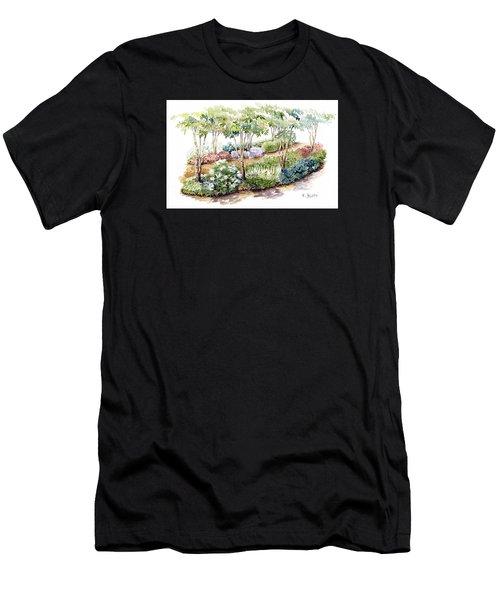Garden, Dark Side Men's T-Shirt (Athletic Fit)