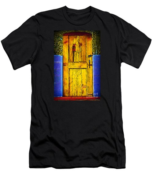 Garden Door Men's T-Shirt (Slim Fit) by Kirt Tisdale