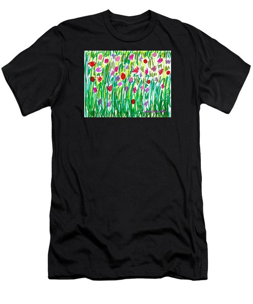 Garden Of Flowers Men's T-Shirt (Athletic Fit)