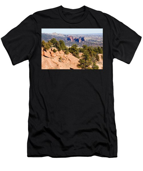 Garden Of The Gods And Springs West Side Men's T-Shirt (Athletic Fit)