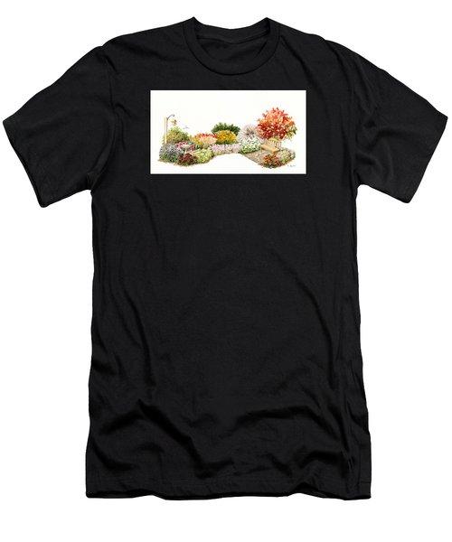 Garden Wild Flowers Watercolor Men's T-Shirt (Athletic Fit)