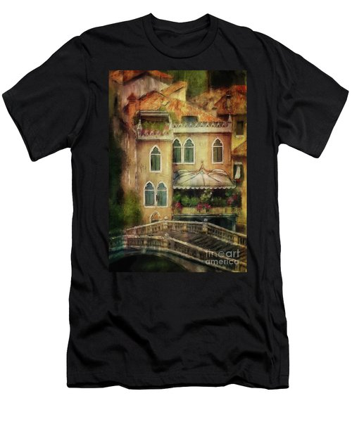 Men's T-Shirt (Athletic Fit) featuring the digital art Gardening Venice Style by Lois Bryan