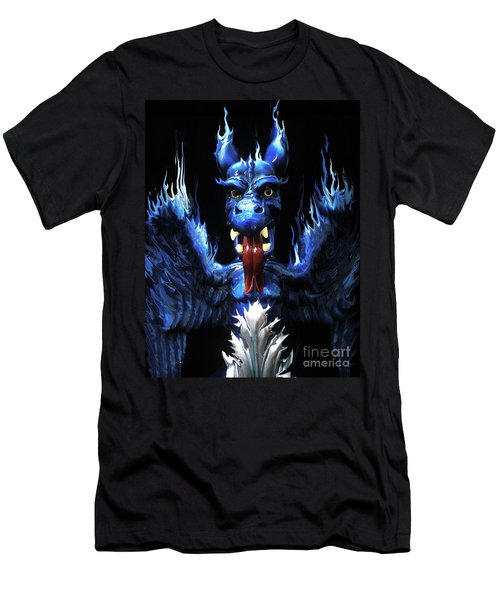 Men's T-Shirt (Slim Fit) featuring the photograph Gargoyle by Jim and Emily Bush