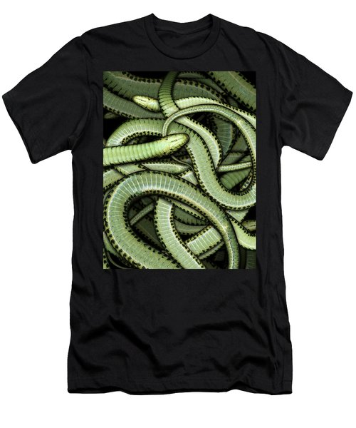 Garter Snakes Pattern Men's T-Shirt (Athletic Fit)