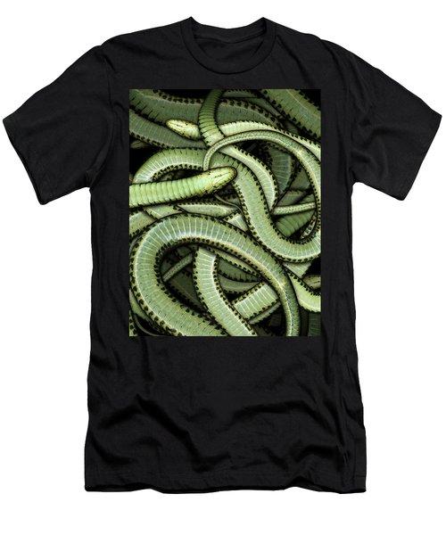 Garter Snakes Pattern Men's T-Shirt (Slim Fit)