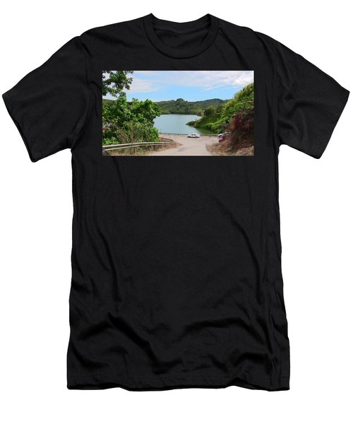 Garzas Lake Road Men's T-Shirt (Athletic Fit)
