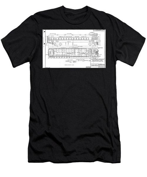 Gas Electric Car Diagram Men's T-Shirt (Athletic Fit)