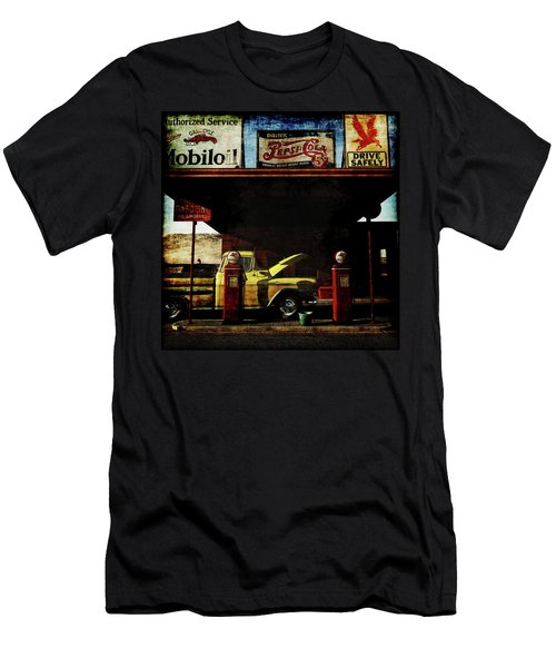 Gas Station No3 Men's T-Shirt (Athletic Fit)