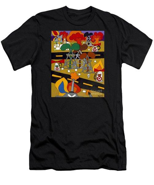 Gas Wars Men's T-Shirt (Athletic Fit)