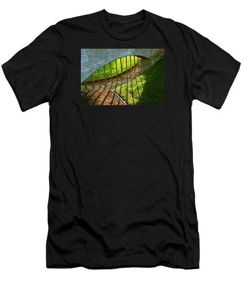 Men's T-Shirt (Slim Fit) featuring the photograph Gate-redemption by Joseph Hawkins