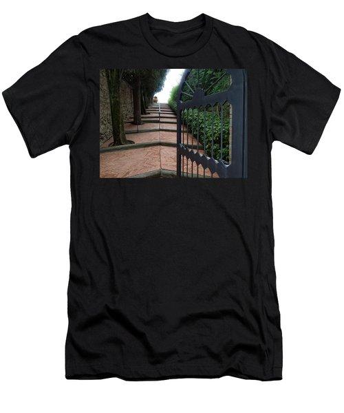Gate To Castello Vichiamaggio Men's T-Shirt (Athletic Fit)