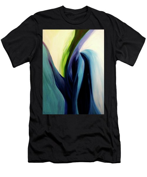 Gate To The Garden  By Paul Pucciarelli Men's T-Shirt (Slim Fit) by Iconic Images Art Gallery David Pucciarelli
