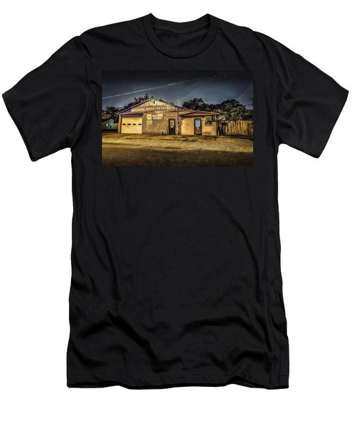 Men's T-Shirt (Athletic Fit) featuring the photograph Gates Auto Repair by David Morefield