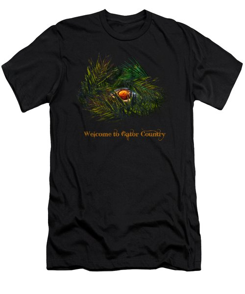 Gator Country  Men's T-Shirt (Slim Fit) by Mark Andrew Thomas