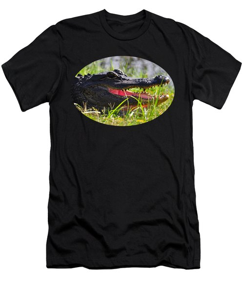 Gator Grin .png Men's T-Shirt (Slim Fit) by Al Powell Photography USA
