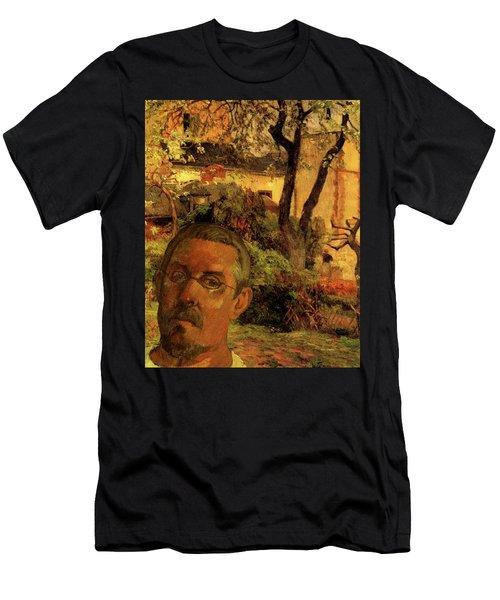 Gauguin Study In Orange Men's T-Shirt (Athletic Fit)