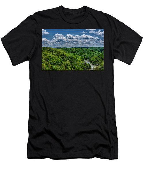 Gauley River Canyon And Clouds Men's T-Shirt (Athletic Fit)