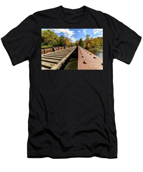 Gauley River Railroad Trestle Men's T-Shirt (Athletic Fit)
