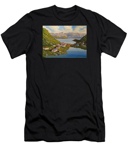 Gaultois Village Newfoundland Men's T-Shirt (Athletic Fit)