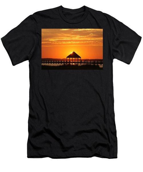 Gazebo Sunset Men's T-Shirt (Athletic Fit)
