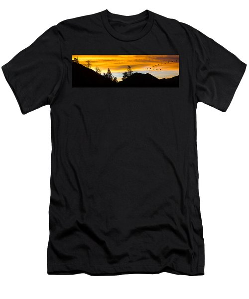 Geese At Sunrise Men's T-Shirt (Athletic Fit)